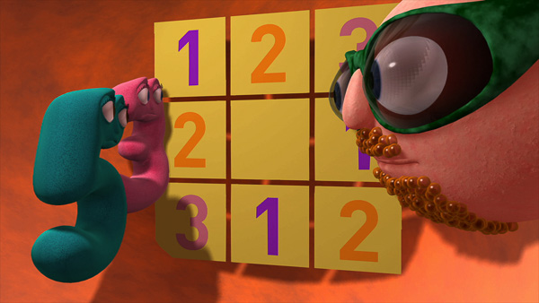 Numberjacks 3 & 5 with the Puzzler image